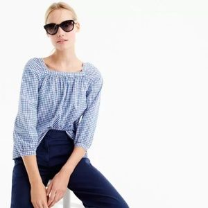J. Crew Penny Top in Gingham G0400